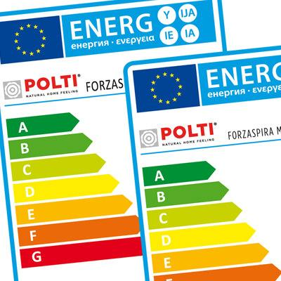 Forzaspira: energy class A vacuum cleaner
