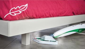 Vaporetto SV400 Hygiene steam mop - lightweight, compact and manageable