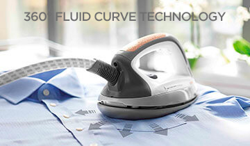 Fluid Curve iron - accessory for Polti Vaporetto: multi-directional rounded soleplate